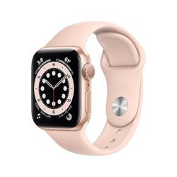 Smartwatch Apple - Watch Series 6 GPS 40mm alluminio oro con cinturino Sport rosa sabbia