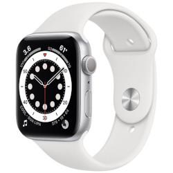 Smartwatch Apple - Watch Series 6 GPS+Cellular 44mm alluminio argento con cinturino sport bianco