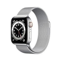 Smartwatch Apple - Watch Series 6 GPS+cellular 40mm acciaio con cinturino loop maglia milanese