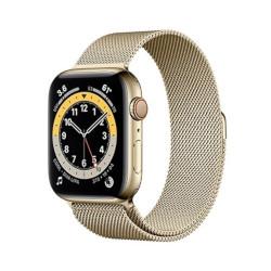 Smartwatch Apple - Watch Series 6 GPS+Cellular 44mm acciaio oro con cinturino loop maglia milanese