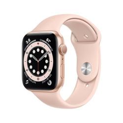 Smartwatch Apple - Watch Series 6 GPS 44 mm alluminio oro con cinturino sport rosa sabbia