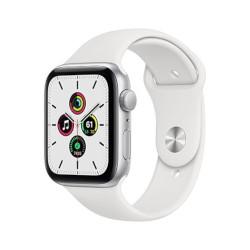 Smartwatch Apple - Watch SE GPS 44mm alluminio argento con cinturino sport bianco