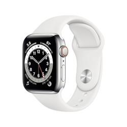 Smartwatch Apple - Watch Series 6 GPS+Cellular 40 mm acciaio oro con cinturino sport bianco