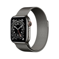 Smartwatch Apple - Watch Series 6 GPS+Cellular 40 mm acciaio grafite cinturino loop maglia milanese