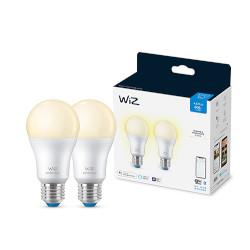 Lampadina LED WIZ - 806 Lumen - Dimmerabile - Luce calda 2700°K - 2 pezzi- E27