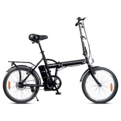 Bicicletta elettrica F2-L1S6-K 25Km/h Autonomia 22 Km Nero