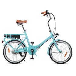 """Bicicletta Smartway - F3-L1S6-A - Ruote 20"""" - Velocità massima 23 km/h - Autonomia 22 km - Turchese"""