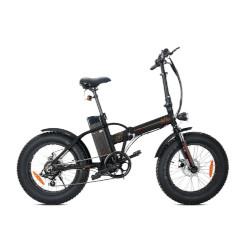 Bicicletta elettrica Smartway - MONSTER BIKE PIEGHEVOLE M1 - ruote 20'' - Autonomia 40km-  MATT BLACK