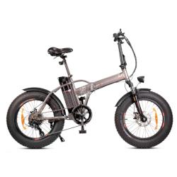 Bicicletta Smartway - M1PLUS Ruote 20'' Velocità max 25 km/h - Autonomia 40Km - Titanio