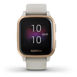 Smartwatch Garmin - Venu SQ Music GPS 33mm rosa con cinturino silicone bianco
