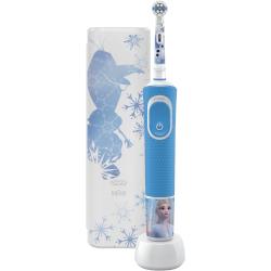Spazzolino elettrico per bambini Braun - Oral-B Kids Vitality Frozen con custodia viaggio