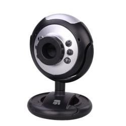 Webcam Xtreme - 33861 0,3MP 640 x 480 Pixel USB 2.0 - Colore Nero, Argento