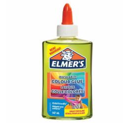 Elmers - Colla Vinilica Colorata Semitrasparente Lavabile per Slime, Verde, 147 ml, 1 Pz