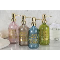 Regalo Italiano - Dispenser sapone con dosatore in vetro 500 ml
