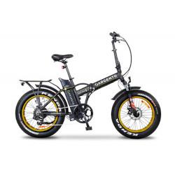 Bicicletta Argento Bike - Mini Max S+ Velocità max 25km/h - Autonomia 30Km - Nero/Grigio/Giallo