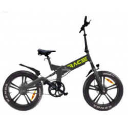 "Bicicletta LEXGO - LEX RACE20 20"" 25 Km/h Grigio"