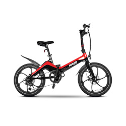Bicicletta DUCATI - MG20 - Ruote 20'' Velocità max 25 km/h - Autonomia 50Km - Nero/Rosso