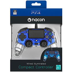 Controller BigBen Interactive - Nacon Wired Compact Light Blue PS4