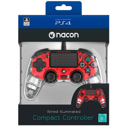 Controller BigBen Interactive - Nacon Wired Compact Light Red PS4