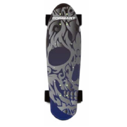Skateboard Go And Skate Blu Argento