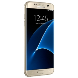 "Smartphone Samsung Galaxy S7 edge - SM-G935F - smartphone - 4G LTE - 32 Go - microSDXC slot - GSM - 5.5"" - 2560 x 1440 pixels (534 ppi) - Super AMOLED - 12 MP (caméra avant de 5 mégapixels) - Android - or platine"