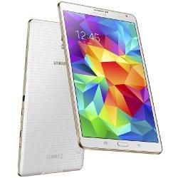 "Tablette tactile Samsung Galaxy Tab S - Tablette - Android 4.4 (KitKat) - 16 Go - 8.4"" Super AMOLED ( 2560 x 1600 ) - Logement microSD - 4G - blanc éclatant"