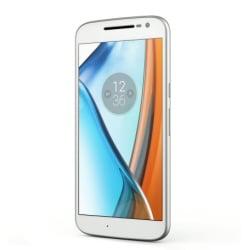 "Smartphone Motorola Moto G4 - Smartphone - double SIM - 4G LTE - 16 Go - microSDXC slot - GSM - 5.5"" - 1 920 x 1 080 pixels (401 ppi) - 13 MP (caméra avant de 5 mégapixels) - Android - blanc"