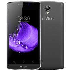 """Smartphone Neffos C5L - Smartphone - double SIM - 4G LTE - 8 Go - microSDHC slot - GSM - 4.5"""" - 854 x 480 pixels (217.7 ppi) - 8 MP (caméra avant de 2 mégapixels) - Android - gris foncé"""
