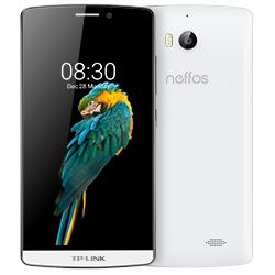 """Smartphone Neffos C5 Max - Smartphone - double SIM - 4G LTE - 16 Go - microSDHC slot - GSM - 5.5"""" - 1 920 x 1 080 pixels (403.4 ppi) - IPS - 13 MP (caméra avant de 5 mégapixels) - Android - blanc perle"""