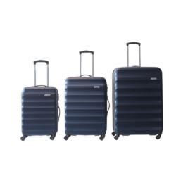 """Set valigie Smartway - Trolley rigidi 20""""+24""""+28"""" BLU con blocchetto a combinazione"""
