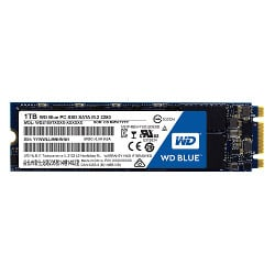 Disque dur interne WD Blue PC SSD WDS100T1B0B - Disque SSD - 1 To - interne - M.2 2280 - SATA 6Gb/s